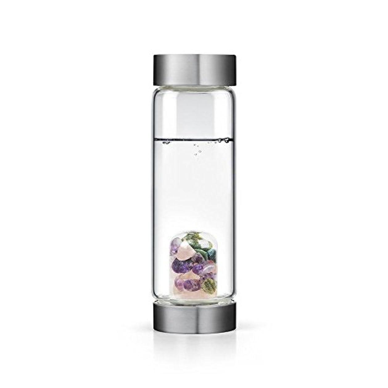 寛大な母音ドリンクBeauty gem-waterボトルby VitaJuwel W / Freeカリフォルニアホワイトセージバンドル 16.9 fl oz