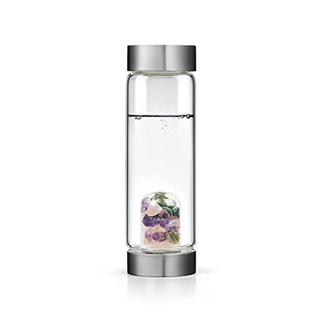 くまグローブ直立Beauty gem-waterボトルby VitaJuwel W / Freeカリフォルニアホワイトセージバンドル 16.9 fl oz