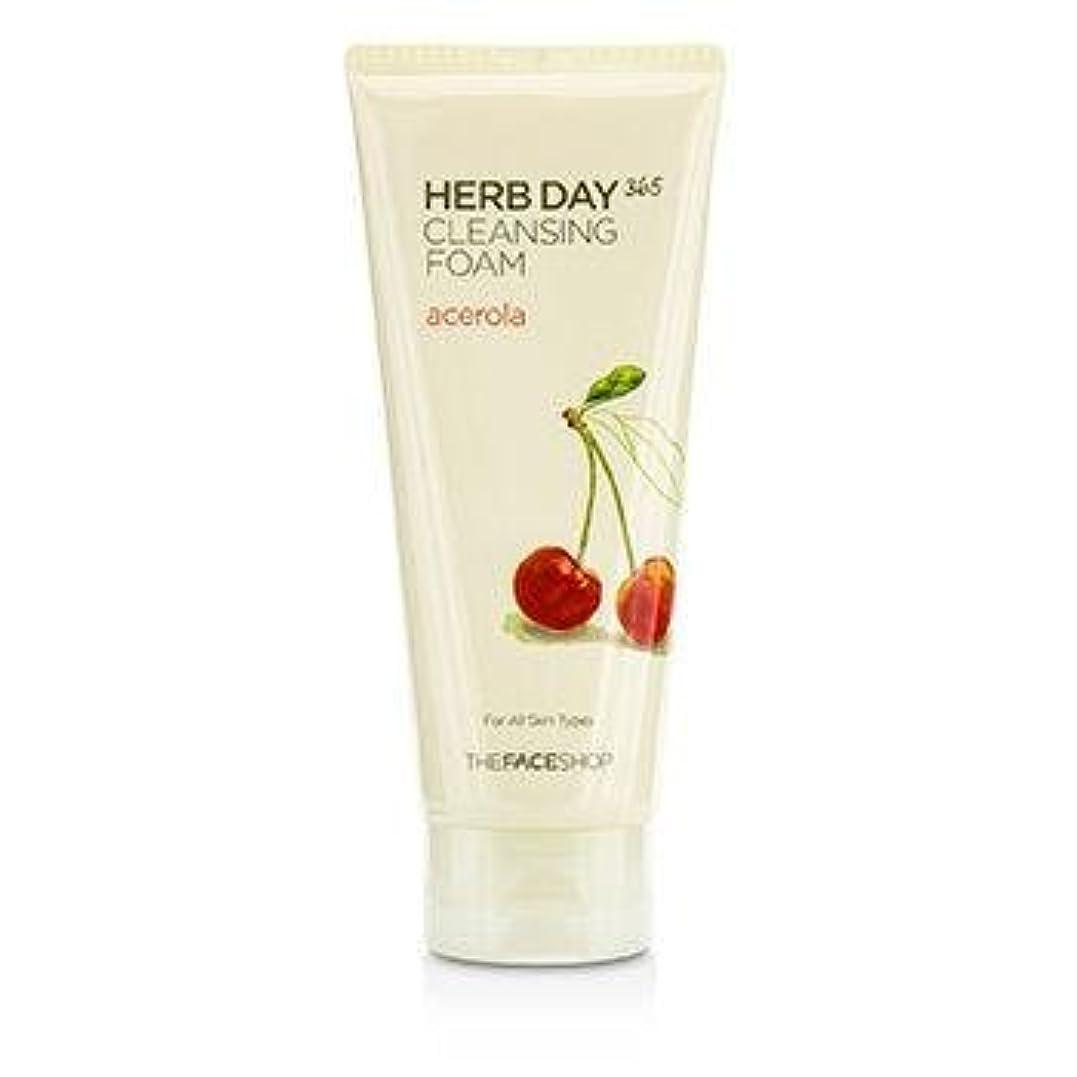 辛な敗北デンマークTHE FACE SHOP Herb Day 365 Cleansing Foam Acerola (並行輸入品)
