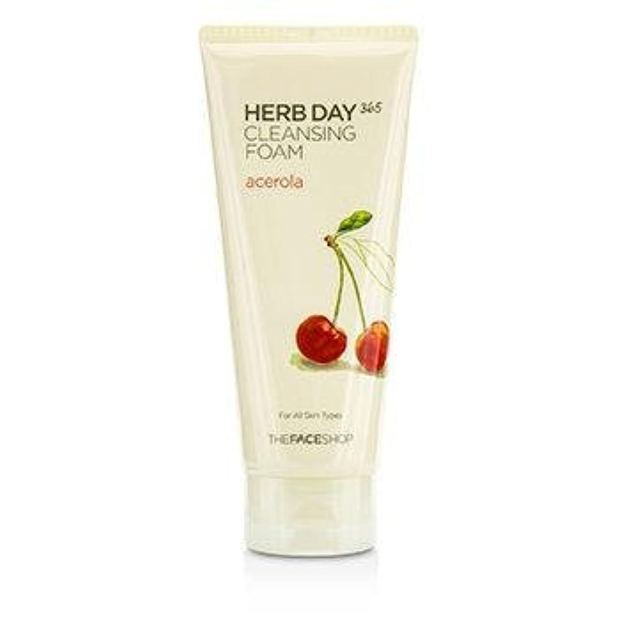 舗装するホステス排除THE FACE SHOP Herb Day 365 Cleansing Foam Acerola (並行輸入品)