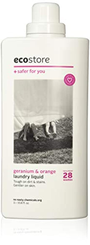 泥だらけ遠征軽減ecostore(エコストア) ランドリーリキッド 【ゼラニウム&オレンジ】 1L 洗濯用 液体 洗剤