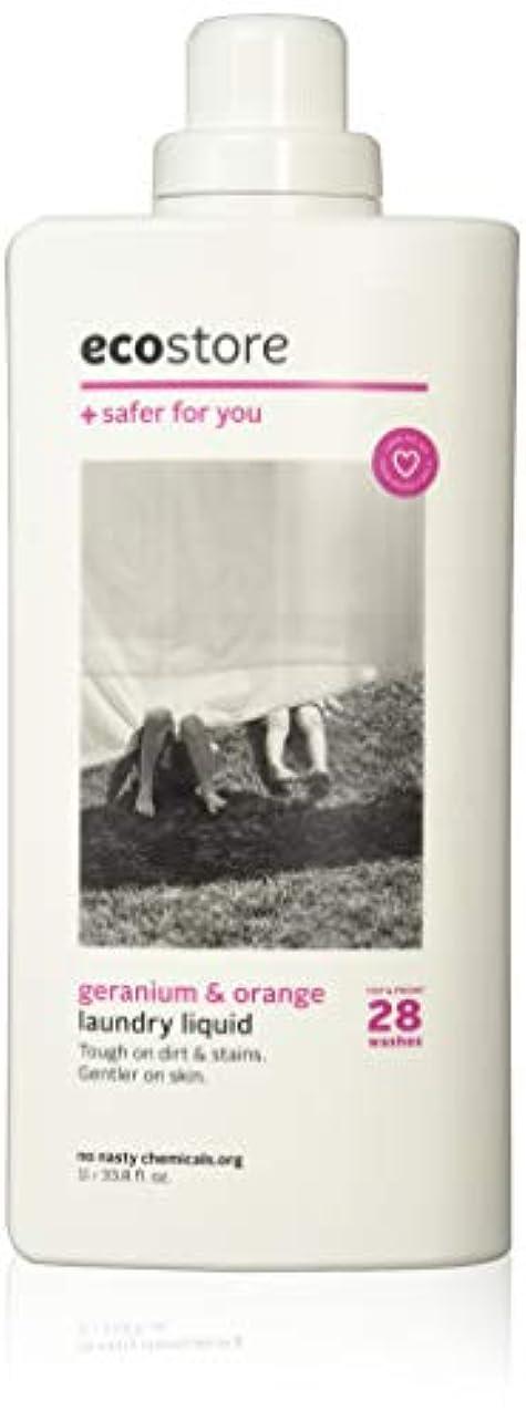取り囲む一致する揺れるecostore(エコストア) ランドリーリキッド 【ゼラニウム&オレンジ】 1L 洗濯用 液体 洗剤