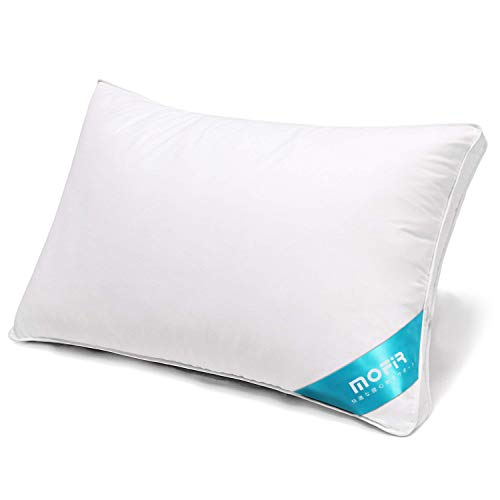 MOFIR 枕 安眠 人気 快眠枕 高反発 健康枕 横向き対応 通気性抜群 防湿 抗菌 丸洗い可能 肩こり解消 いびき防止 高級ホテル仕様 家族のプレゼント 立体構造43×63cm ホワイト 一年間品質保証付き