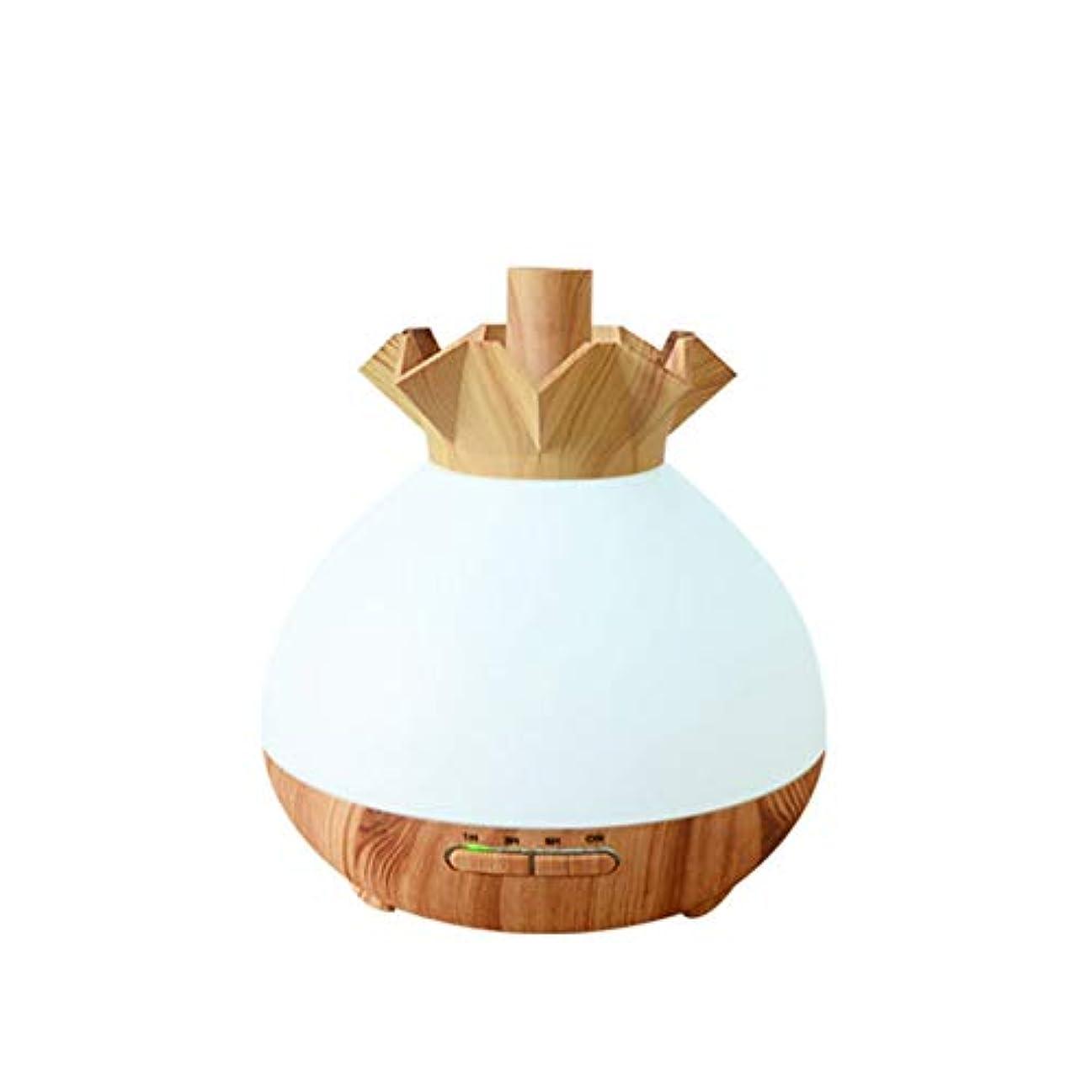 危機露ベーシックWifiアプリコントロール 涼しい霧 加湿器,7 色 木目 空気を浄化 加湿機 プレミアム サイレント 精油 ディフューザー アロマネブライザー ベッド- 400ml