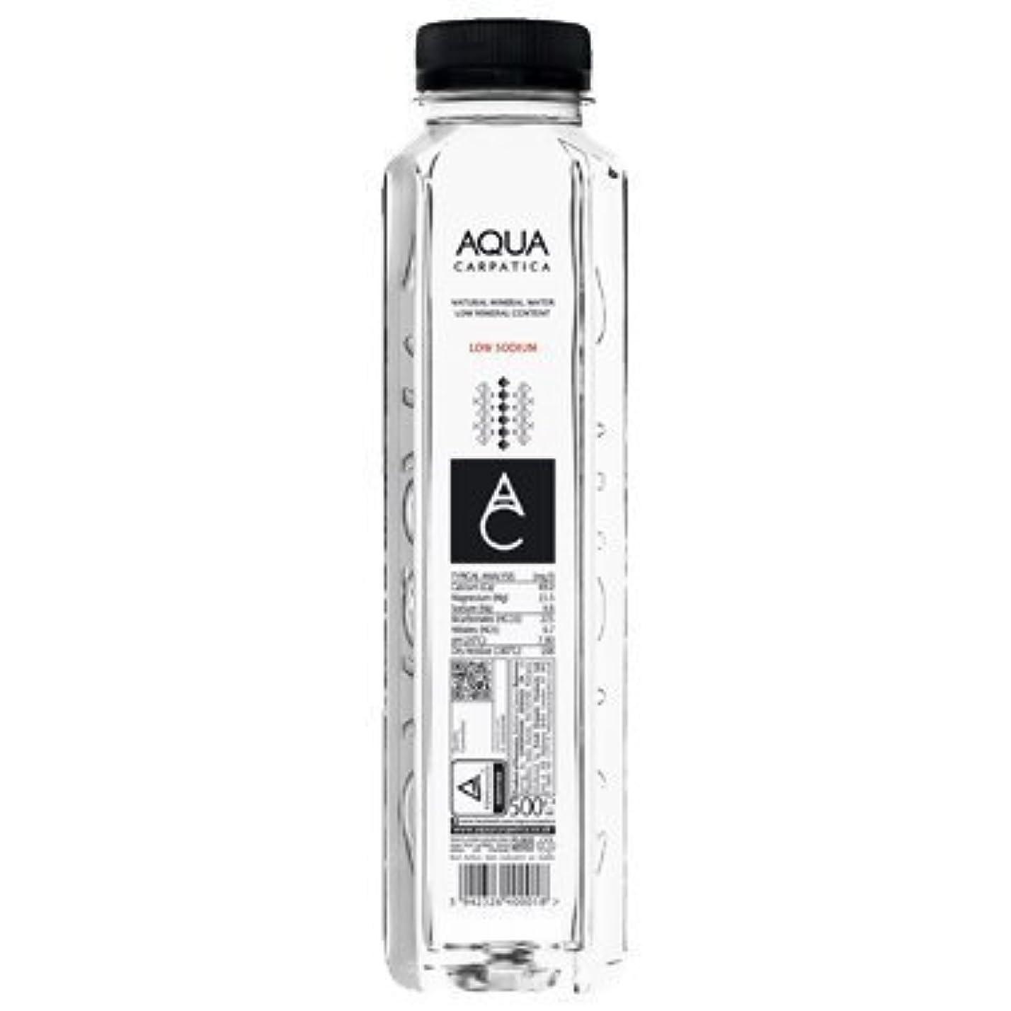 スリル司書ボウリング【500ml×36本】ルーマニアのミネラルウォーター AQUA CARPATICA アクアカルパチカ 500ml PETボトル (3ケース 36本) 【ルーマニア 水 ミネラルウォーター】