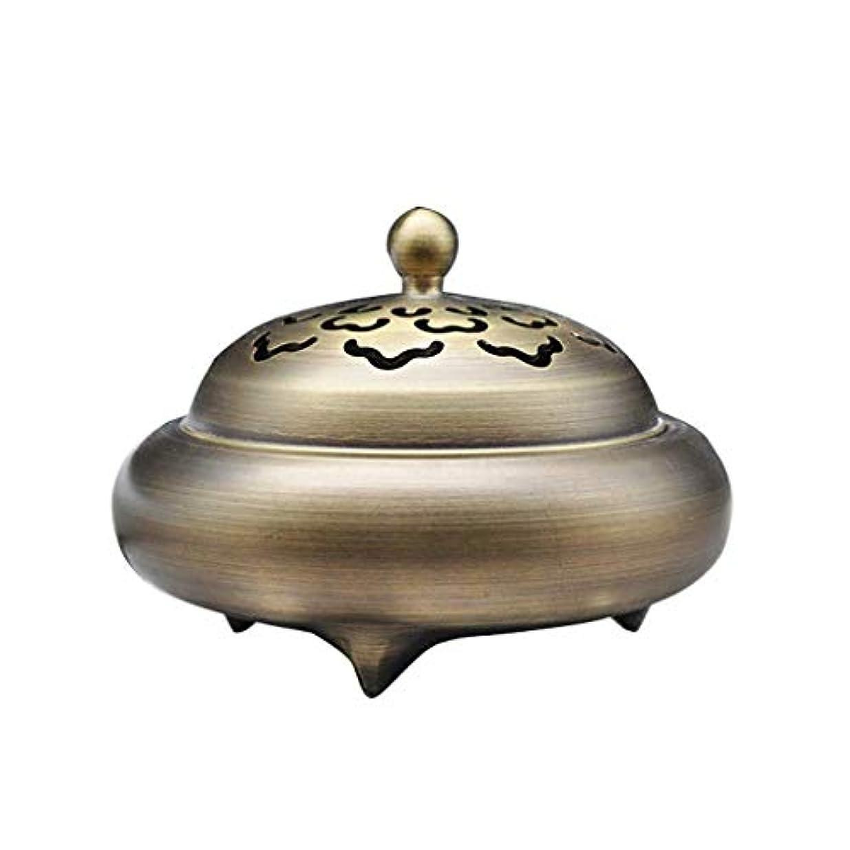 離すたくさん一瞬芳香器?アロマバーナー レトロバーナー純銅香バーナーホーム屋内白檀炉香バーナー香道路装飾 アロマバーナー芳香器 (Color : Brass)