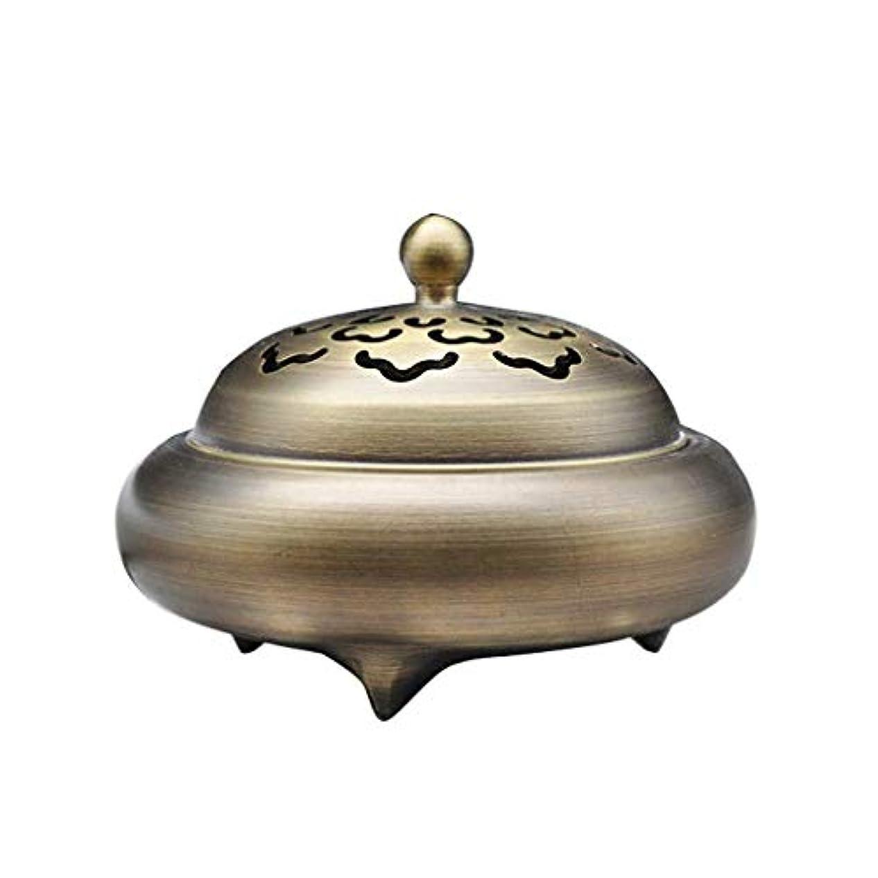 スイス人ラベル欺ホームアロマバーナー レトロバーナー純銅香バーナーホーム屋内白檀炉香バーナー香道路装飾 芳香器アロマバーナー (Color : Brass)