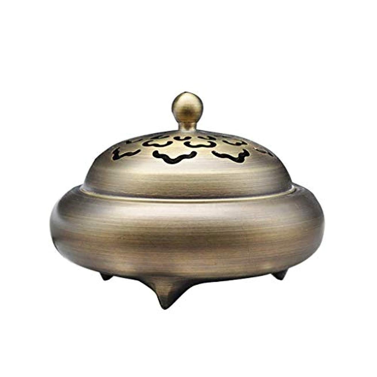 後世淡いフィールドホームアロマバーナー レトロバーナー純銅香バーナーホーム屋内白檀炉香バーナー香道路装飾 芳香器アロマバーナー (Color : Brass)