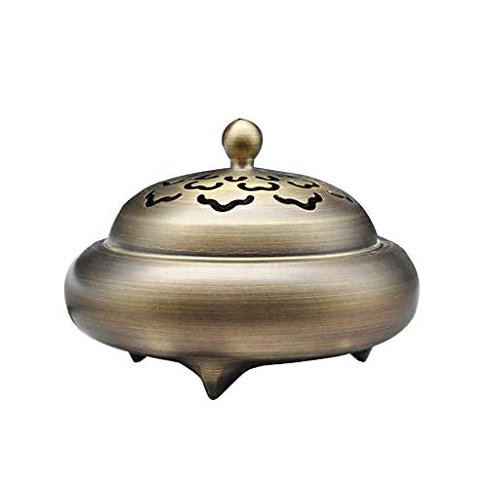 年次お父さん人里離れたホームアロマバーナー レトロバーナー純銅香バーナーホーム屋内白檀炉香バーナー香道路装飾 芳香器アロマバーナー (Color : Brass)