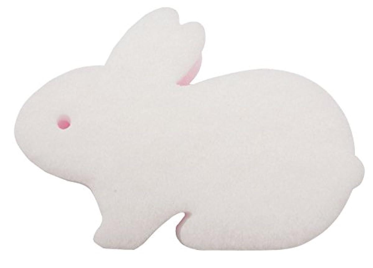 汚染された爵夫婦オーエ クリーンフレンズ キッチン スポンジ ウサギ 白 約8×11.4×3.7cm 汚れを吸着して しっかり洗える Bunny Sponge