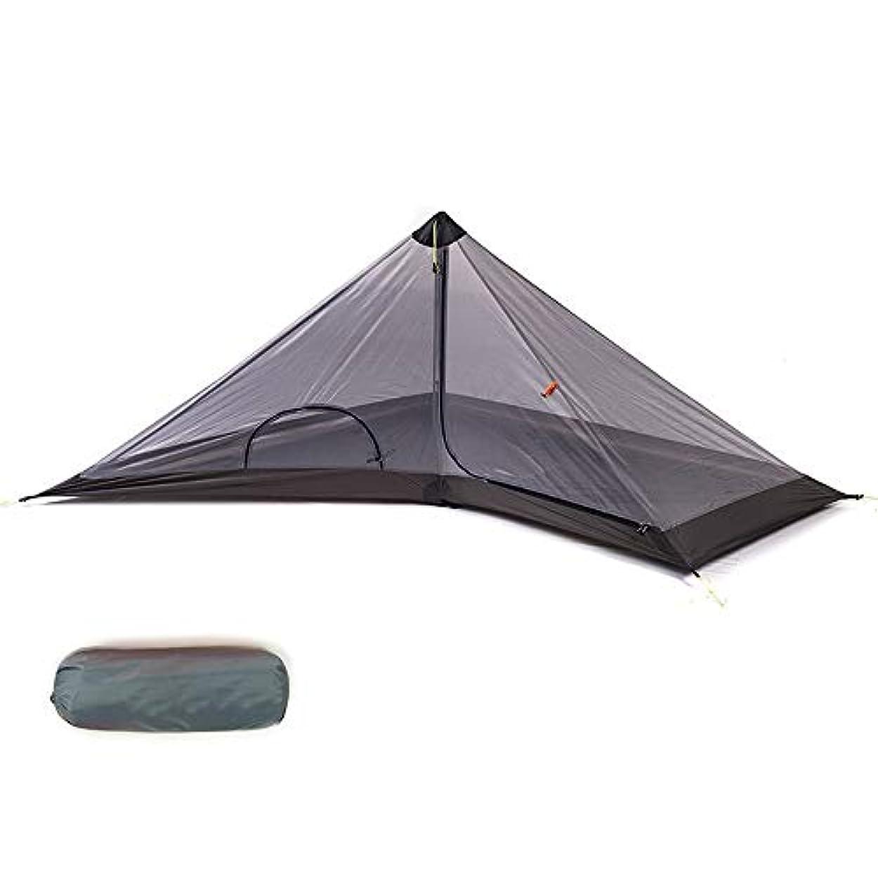 ビット透過性要旨YLY テント 二層構造 キャンプ 高通気性 折りたたみ 紫外線カット アウトドア 1人用 (Color : オレンジ, Size : 内層)