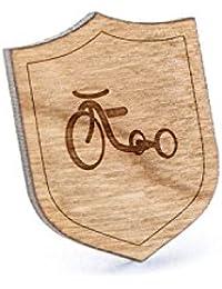 Tricycleラペルピン、木製ピンとタイタック|素朴な、ミニマルGroomsmenギフト、ウェディングアクセサリー