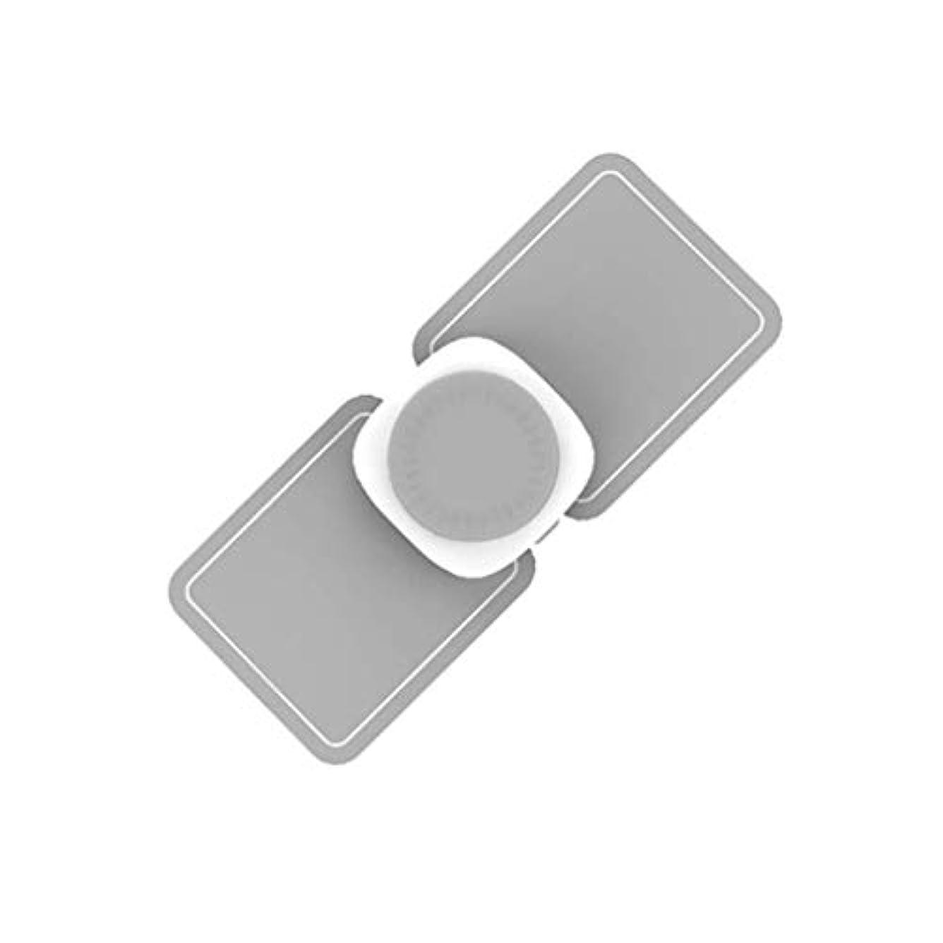サーキットに行くよろしく登録するマッサージャー、ポータブルミニネック ショルダーマッサージャー、USB充電式電動ディープマッサージツール、マッスルリラクゼーションにより、ホームオフィスの痛みを軽減 (Color : Grey)