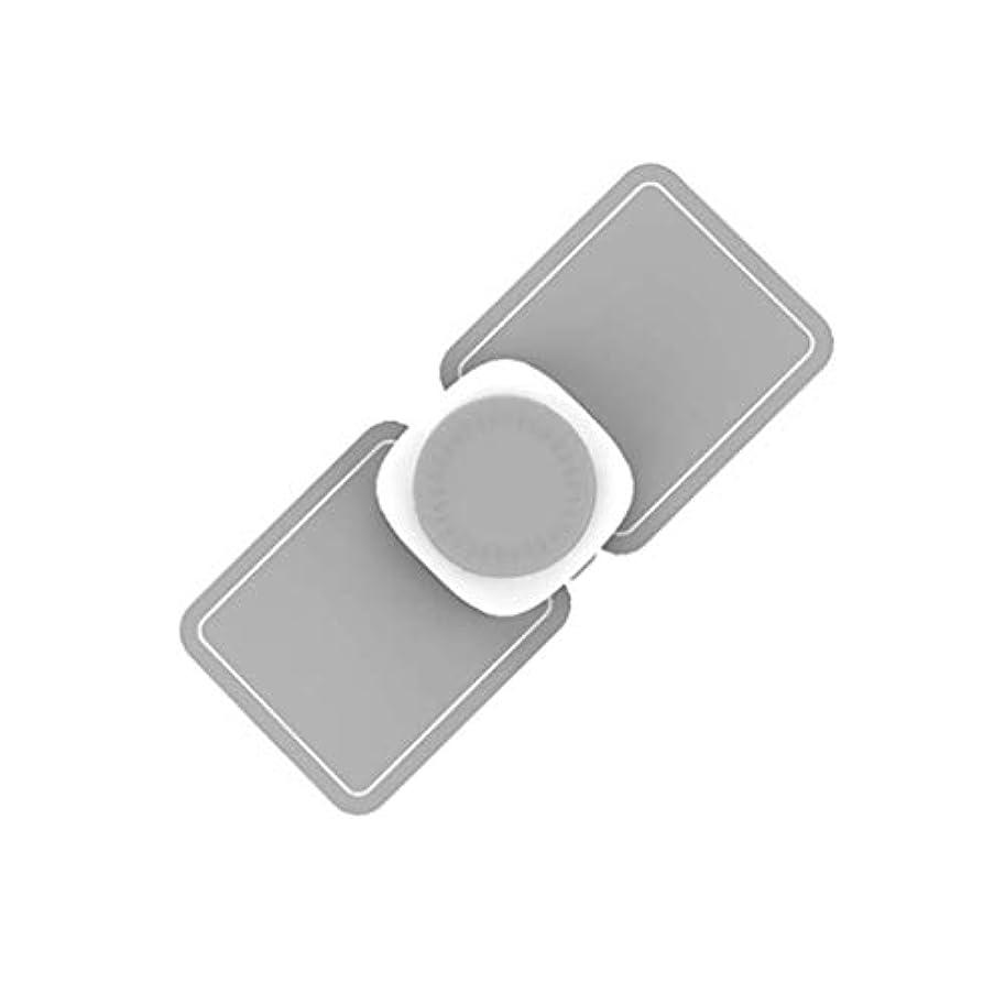 ご近所バン精神医学マッサージャー、ポータブルミニネック|ショルダーマッサージャー、USB充電式電動ディープマッサージツール、マッスルリラクゼーションにより、ホームオフィスの痛みを軽減 (Color : Grey)