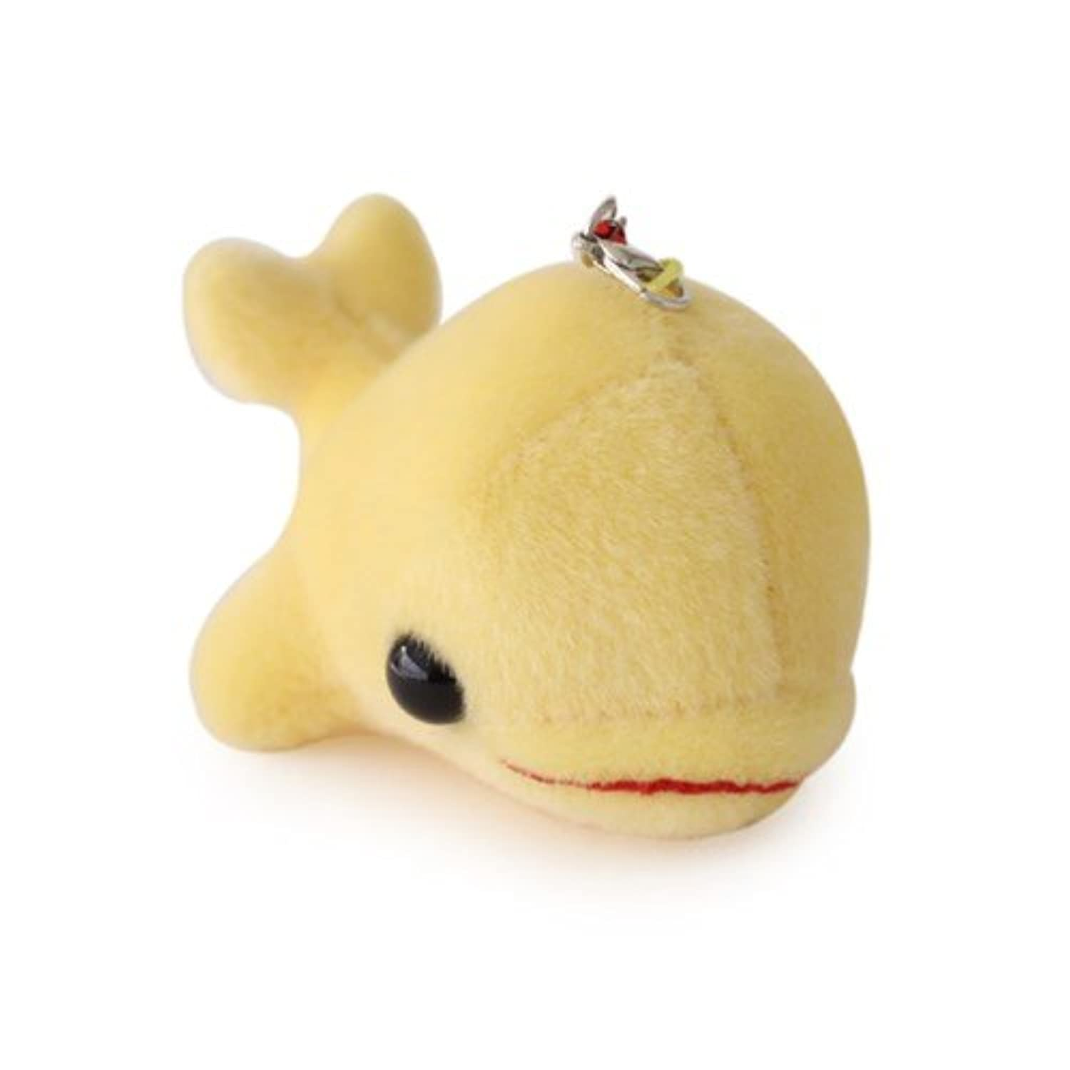 Phone Ring Toy - Cotton ANI Dolphin Dong dong 9cm Yellow