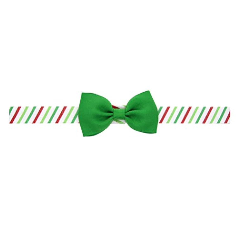 Zhhlinyuan ベビー小物 Baby Girls ヘアアクセサリ Toddler Kids Christmas/Photography Pops/Costume/Party Elastic Ribbon Bowknot Headband Hairband