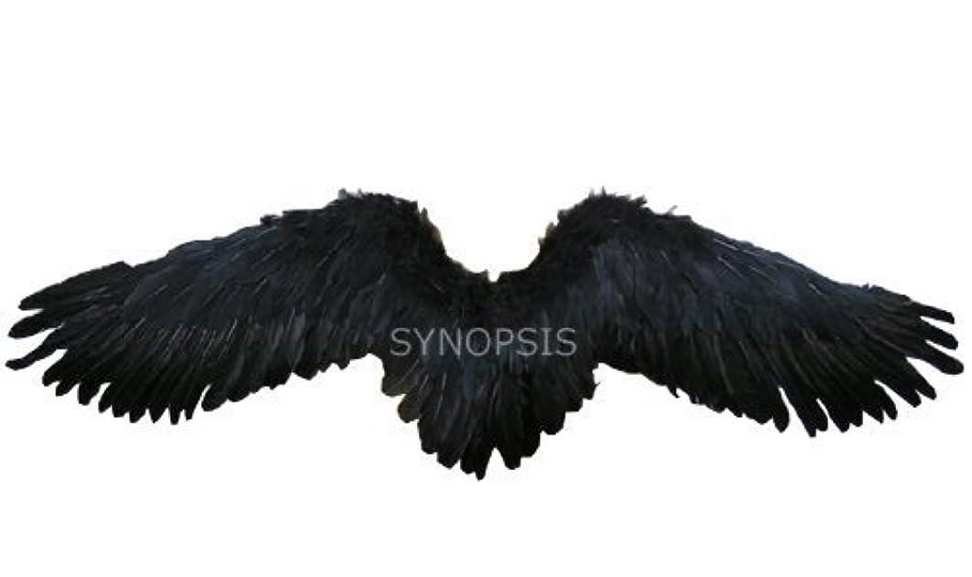 襲撃販売員報復する天使の翼 天使の羽 舞台 コスプレ用 天然羽  黒