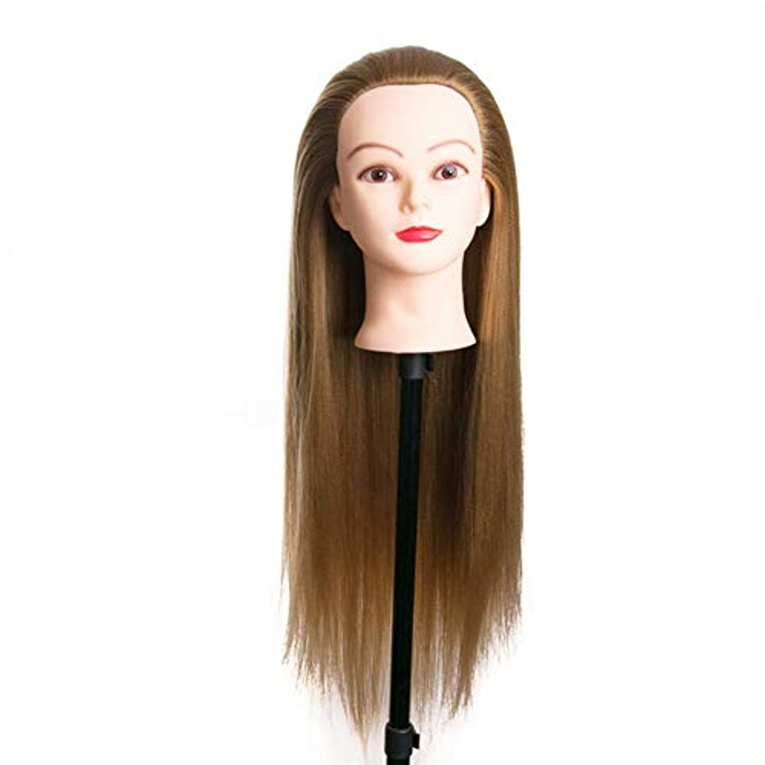 想像する時間サンドイッチメイクアップディスクヘアスタイリング編みを教えるダミーヘッド理髪サロンエクササイズヘッド金型ヘアカットトレーニングかつら3個