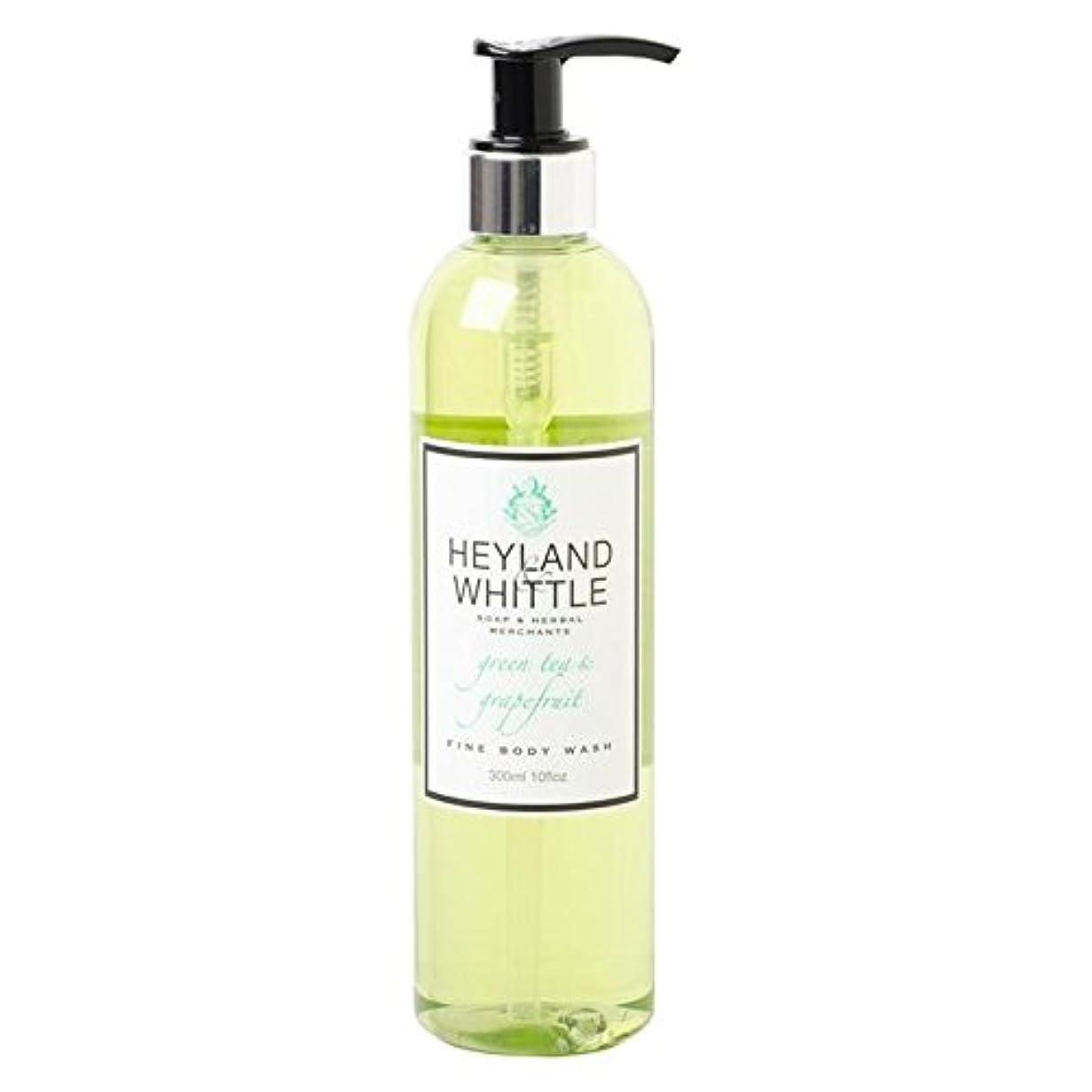 クラッシュ仲人不運&削るグリーンティ&グレープフルーツボディウォッシュ300ミリリットル x4 - Heyland & Whittle Greentea & Grapefruit Body Wash 300ml (Pack of 4) [...