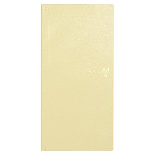 プラス メモ帳 ノート カ.クリエ A4×1/3 プレミアムクロス グロッシーアイボリー 77-947