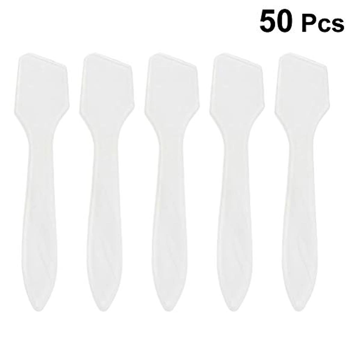 フローティング苗告白SUPVOX 50ピース化粧品スキンケアフェイスクリームマスク混合ヘラアプリケータツール