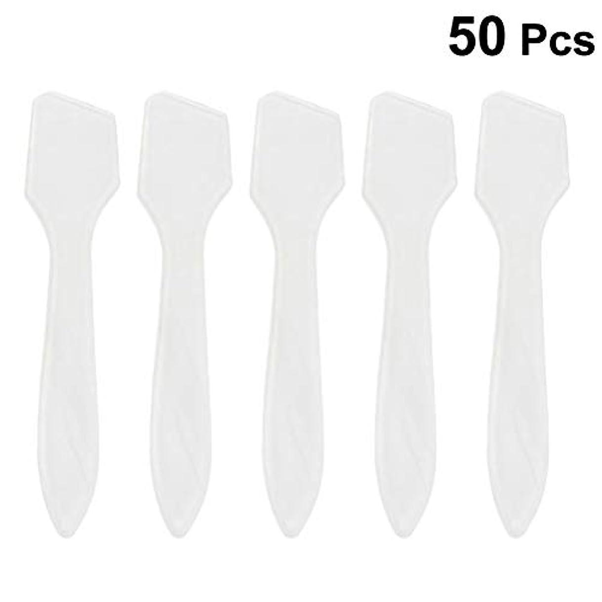 節約キャンペーン手書きSUPVOX 50ピース化粧品スキンケアフェイスクリームマスク混合ヘラアプリケータツール