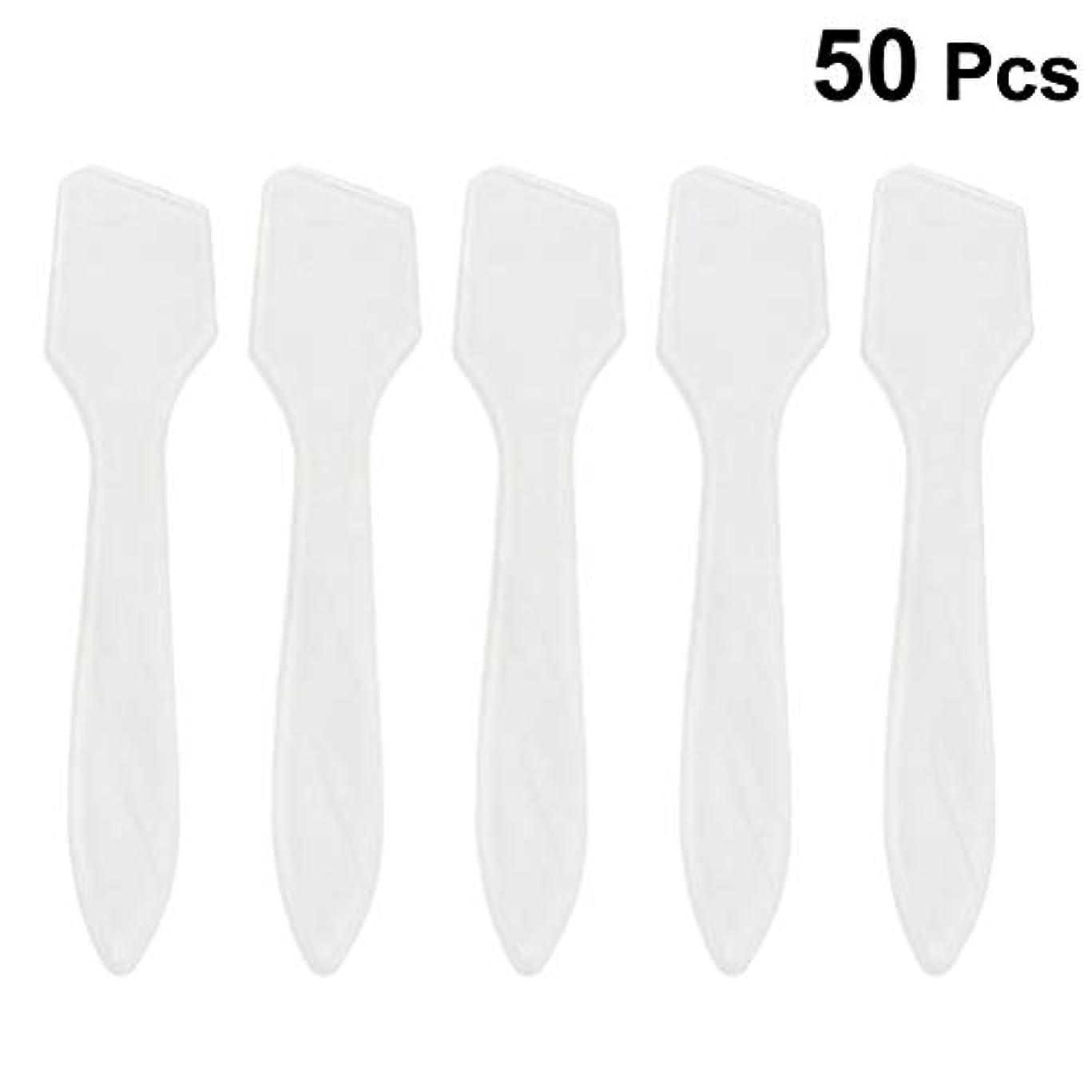 可能にする機密捧げるSUPVOX 50ピース化粧品スキンケアフェイスクリームマスク混合ヘラアプリケータツール