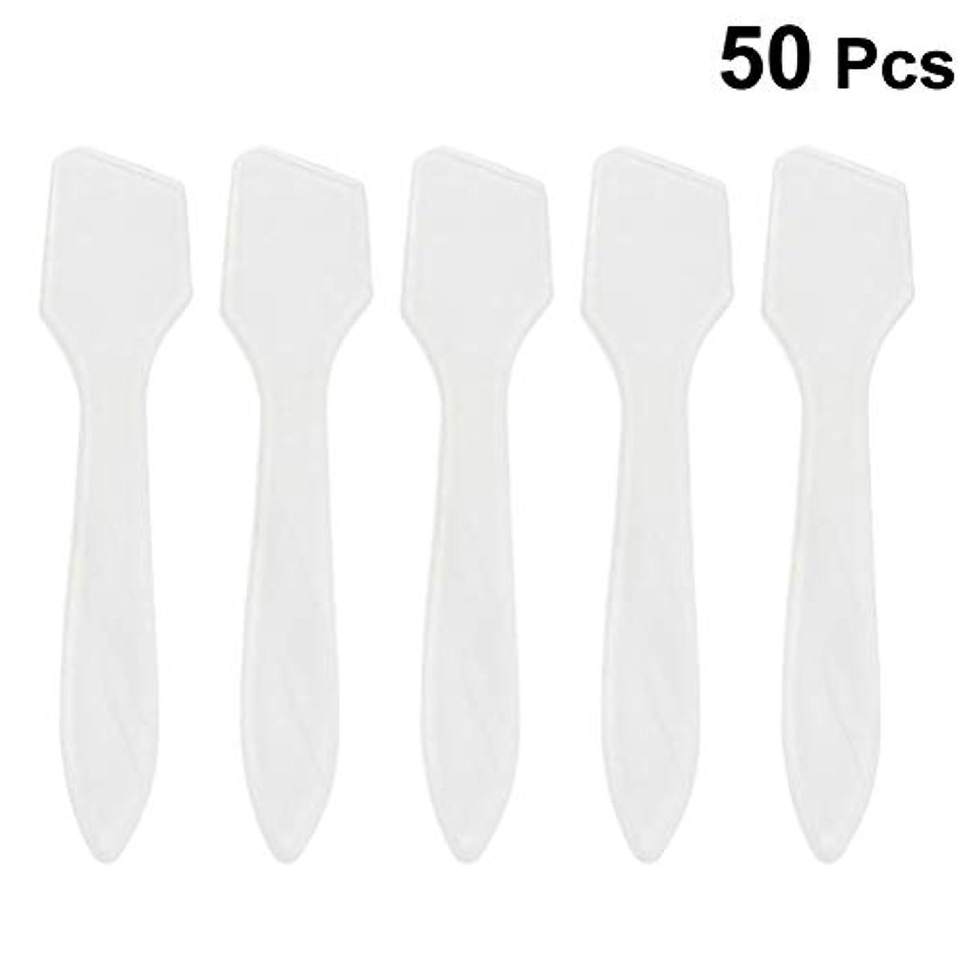 改修パッケージ製品SUPVOX 50ピース化粧品スキンケアフェイスクリームマスク混合ヘラアプリケータツール