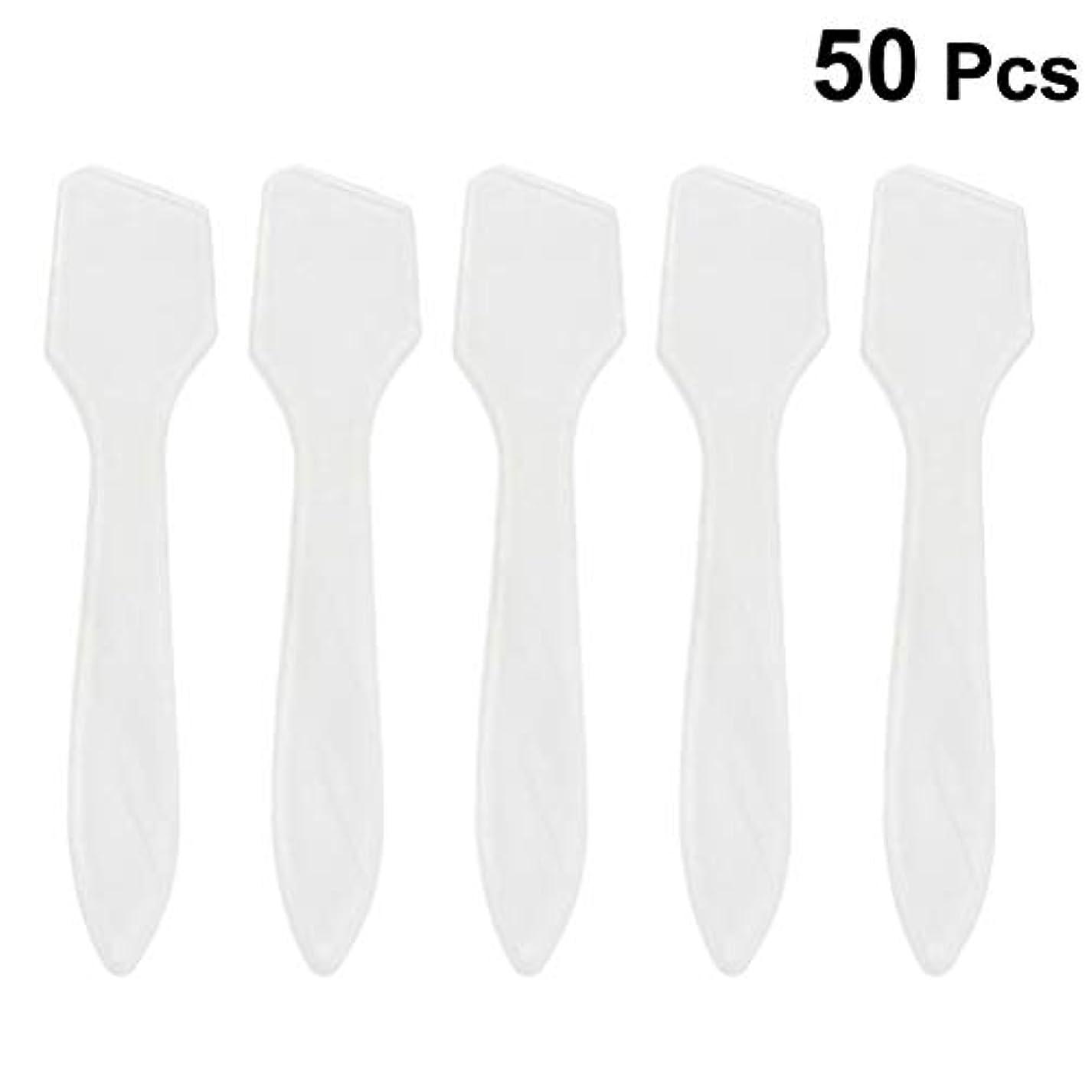 クライストチャーチ不良品有力者SUPVOX 50ピース化粧品スキンケアフェイスクリームマスク混合ヘラアプリケータツール