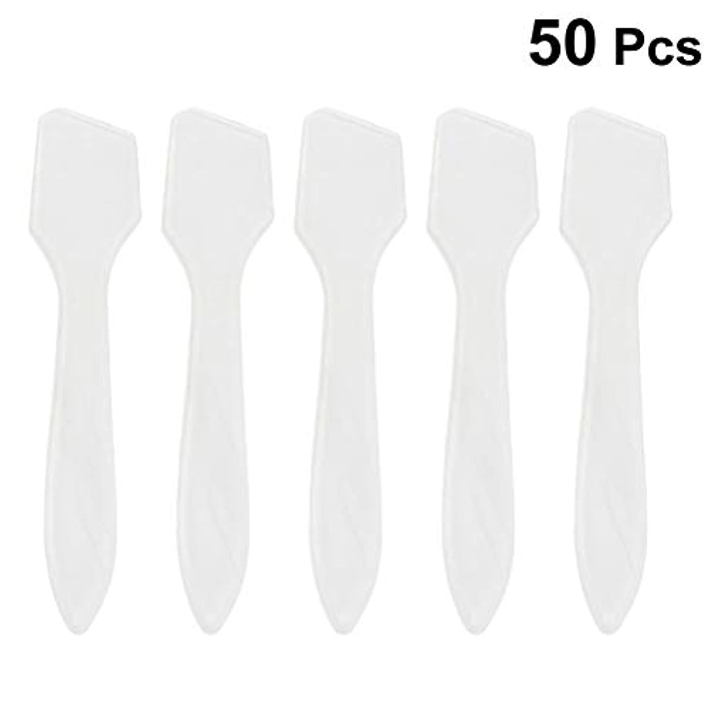 どんよりした大メダルSUPVOX 50ピース化粧品スキンケアフェイスクリームマスク混合ヘラアプリケータツール