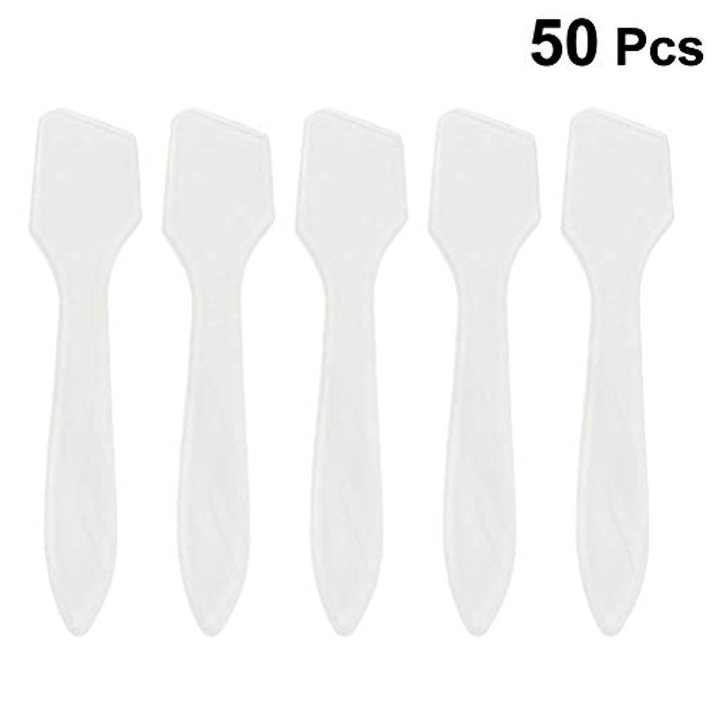 リンク気楽なについてSUPVOX 50ピース化粧品スキンケアフェイスクリームマスク混合ヘラアプリケータツール