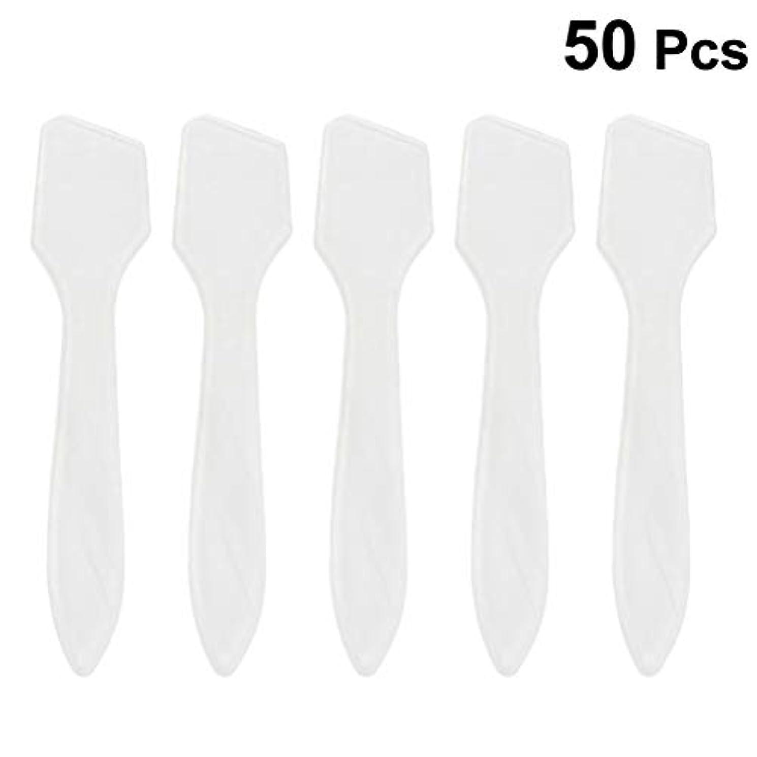 接ぎ木厚さ事SUPVOX 50ピース化粧品スキンケアフェイスクリームマスク混合ヘラアプリケータツール