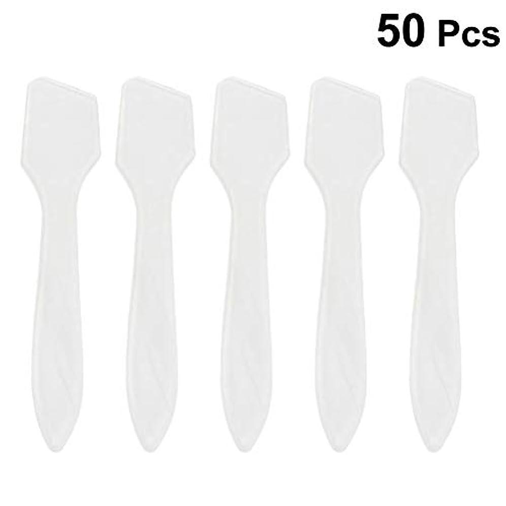 干渉する失速小さなSUPVOX 50ピース化粧品スキンケアフェイスクリームマスク混合ヘラアプリケータツール