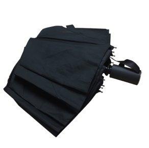 HESOR 折り畳み傘 ワンタッチ自動開閉 Teflon加工 軽量 耐風撥水 晴雨兼用 収納ケース付き (ブラック)