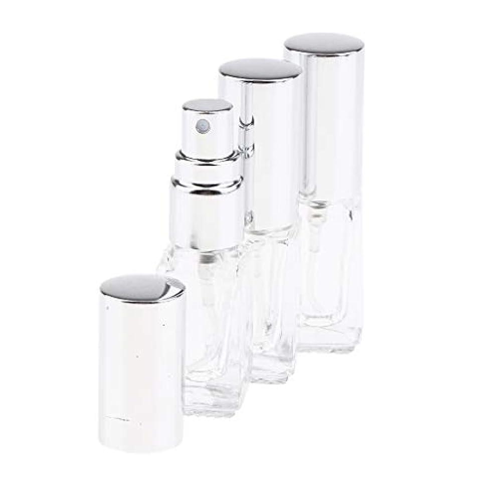 赤徒歩で旋回SM SunniMix 3個セット 3ML ガラスボトル 香水瓶 スプレーボトル 化粧水瓶 噴霧器 超微細 ミスト 全3色 - シルバーキャップ