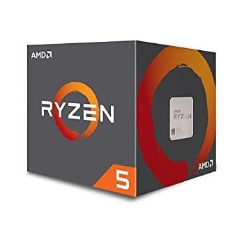 AMD CPU Ryzen5 1600 with Wraith Spire 65W cooler AM4 YD1600BBAEBOX