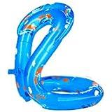 TYZP 子供脇の下厚くフローティングリング大人救命浮輪初心者水泳用具ハーフリングアームシングルエアバッグ (Color : Blue, Size : M)