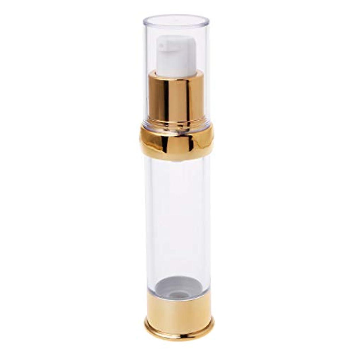 トランスペアレントるバスDabixx トラベルエアレスボトルポンプ空スプレー化粧品真空ローションボトル15/20/30ミリリットル - ゴールド2