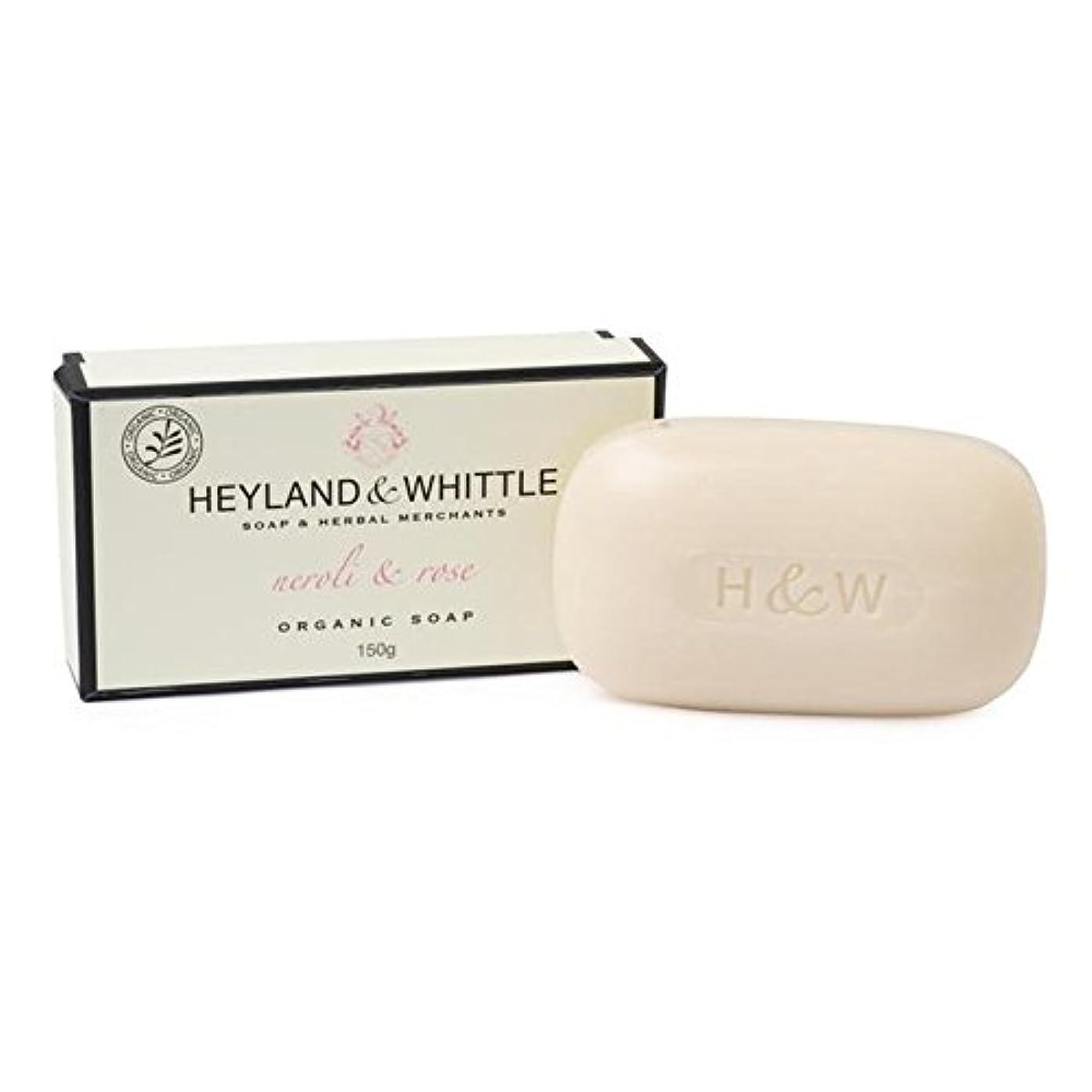 探偵転用ちょうつがい&削る有機ネロリ&ソープバー150グラムをバラ x4 - Heyland & Whittle Organic Neroli & Rose Soap Bar 150g (Pack of 4) [並行輸入品]