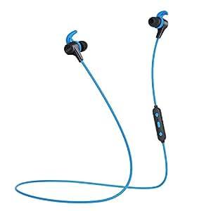 AUKEY bluetoothイヤホン 三つサウンドエフェクト aptX対応 IPX4防水 マグネット式 収納ポーチ付き iPhone XS/XS Max/XR、Android、Apple Watch、Echo Dotなどに対応 EP-B40 (ブルー)
