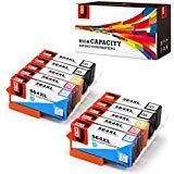 JetSir 4カラー564564X Lインクカートリッジ高Yield (BK/C/M/Y、作業with Photosmart 5520652065105510751075207515C6380C310a Officejet 4620Deskjet 3520プリンタ