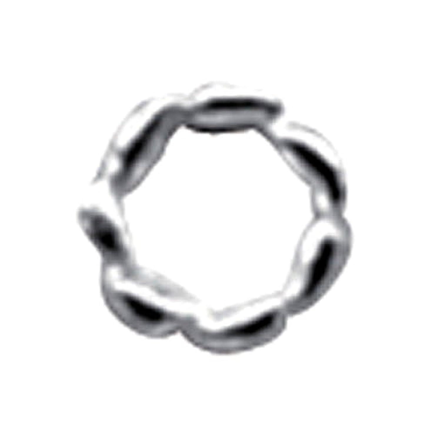 胚慣性ブラストプリティーネイル ネイルアートパーツ ツイストリングM シルバー 12個