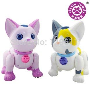 電子ペットインテリジェントアコースティックリモコンロボット猫インテリジェンスのおもちゃ早期教育のリモートコントロールの動物