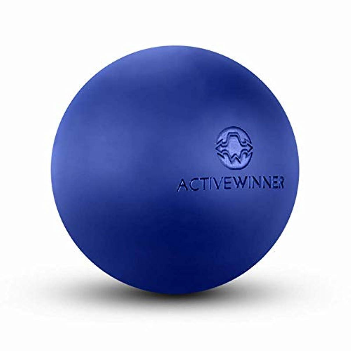 扇動するリダクターフルーツActive Winner マッサージボール トリガーポイント (ネイビー) ストレッチボール 筋膜リリース トレーニング 背中 肩こり 腰 ふくらはぎ 足 ツボ押し