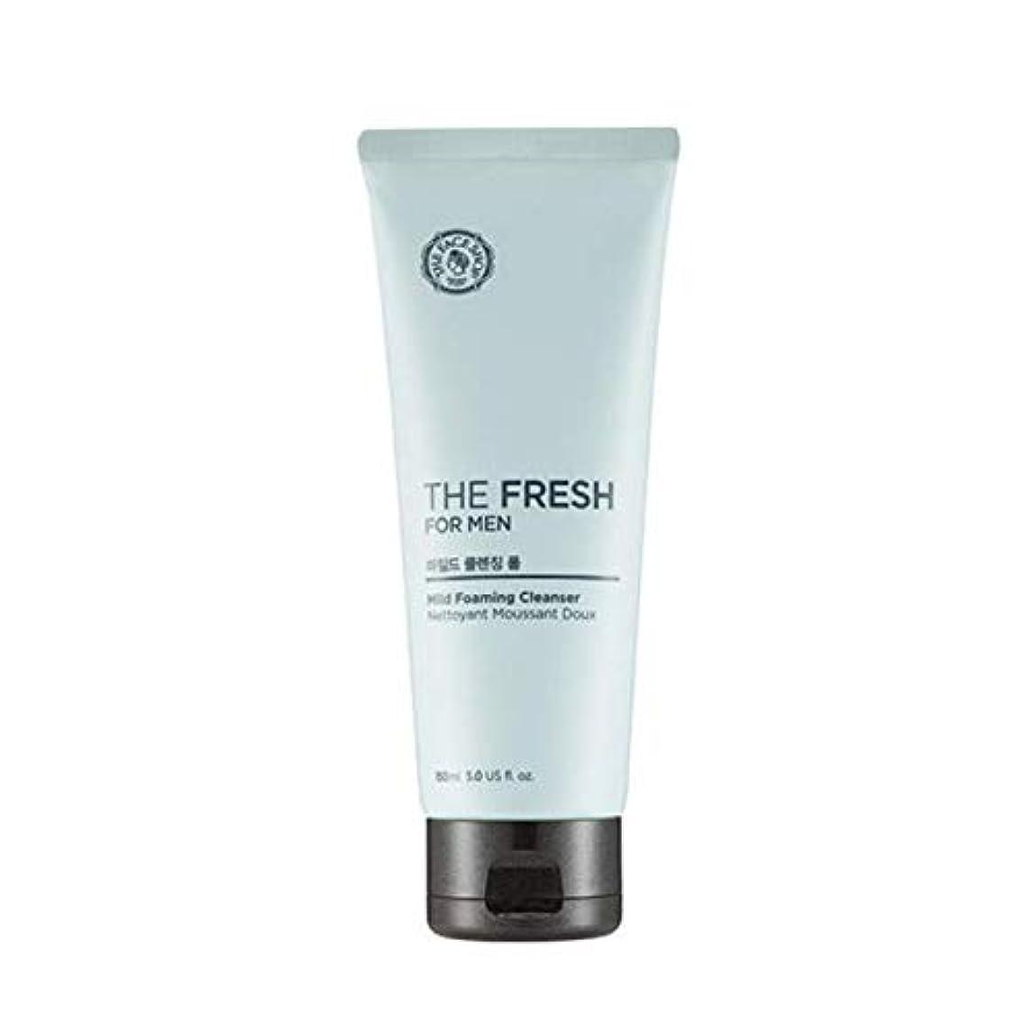 本体苦味部分的にザフェイスショップ ザフレッシュフォーメンマイルドフォーミングクレンザー 150ml / THE FACE SHOP The Fresh For Men Mild Foaming Cleanser 150ml [並行輸入品]