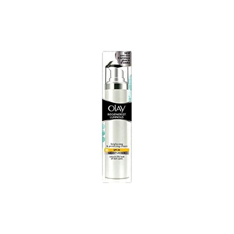 仮説従事するチョコレートオーレイリジェネ発光デイクリーム20(50ミリリットル) x4 - Olay Regenerist Luminous Day Cream Spf20 (50ml) (Pack of 4) [並行輸入品]