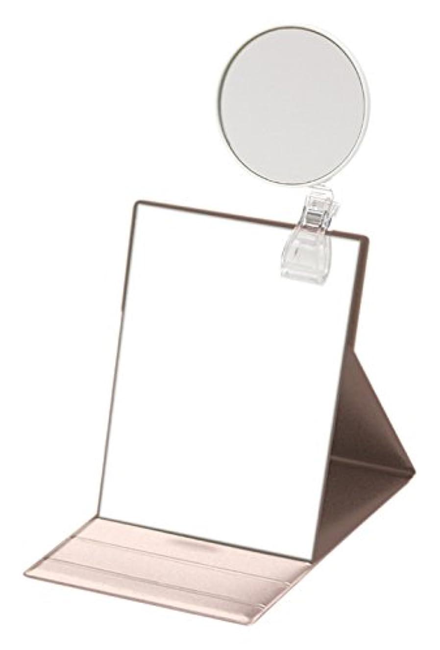 ビール首付添人ナピュアミラー 3倍拡大鏡付きプロモデル折立ナピュアミラーM ピンクゴールド HP-34×3