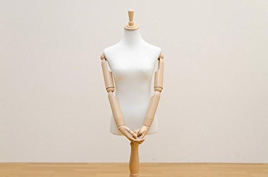 残基非公式白内障トルソー アーム付き 女性 ボディ アーム曲げ可 指曲げ可 高さ調節