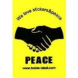 おもしろシール ポスター PEACE(握手) 240