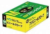 フジ ビニール手袋粉付 M 入数:100枚 ×20個